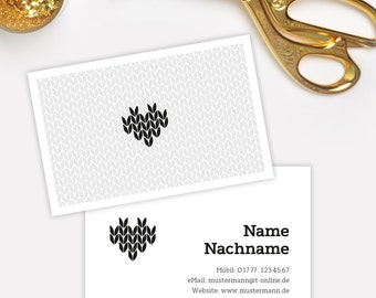 Business Card Template / Business Card / Calling Card / Heart / Printable / individual / personalized / modern / heart
