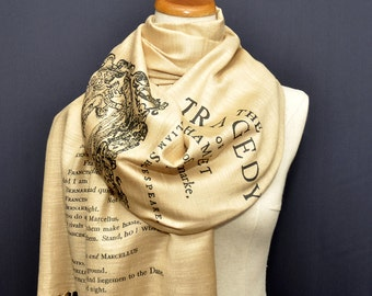 Hamlet Scarf/Shawl. William Shakespeare