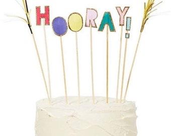 Hooray! Cake Topper