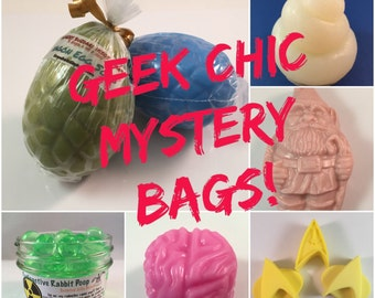 Geek Chic Mystery Bag - Random Fandom Surprise Bag -  Value Grab Bag - White Elephant - Treat Bag - Mystery Box - Nerd Gift - Secret Santa