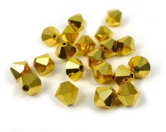 20 x AURUM 2X  Swarovski® 6mm bicone beads