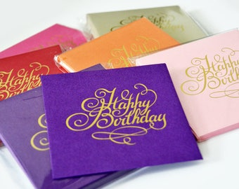 12 Happy Birthday Greetings Card / Gift Card / Money Envelopes