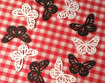 "Butterflies, Large ~ 1.75"" Monarch Butterfly Cut-Outs, Color on Both Sides, Butterfly Party, Butterfly Wedding, Baby Shower, Craft Supply"