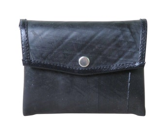 Snap coin purse using inner tube - FREE SHIPPING - vegan wallet, vegan gift, upcycled coin purse