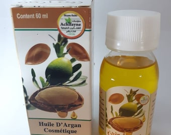 Pure Moroccan Argan Oil 60mL Huile d' argan for hair,face and body anti aging moisturizer free shipping