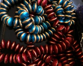 Large quantity of high quality glazed handmade beads for crafts, jewellery making, diys, fashion embellishment and craft decoration