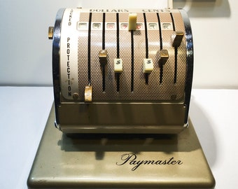 Vintage Paymaster X-550 Check Writer - 1960s - Office Decor