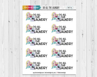 Do all the Laundry Mermaid Planner Stickers   18072-04