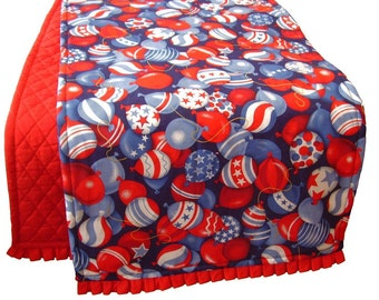 Patriotic Table Runner, 4th of July Table Decorations