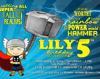 Thor Birthday Invitation