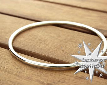 Sterling silver bangle | silver bangle bracelet | 3 mm | 8.5ga | stacking bangle | smooth silver bangle | women's bangle |  made to order