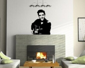 Elvis decal-Elvis wall sticker-Music decal-Vinyl wall decor-Room decor-28 X 35 inches