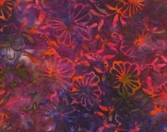 Moda Fabric Color Splash Sunset  Batiks- 2 yards 34 inches End of Bolt  4321 39  Magenta Red Batik