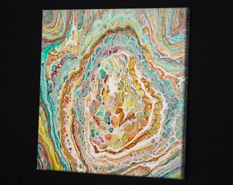 Cellular Strands Acrylic Pour Painting