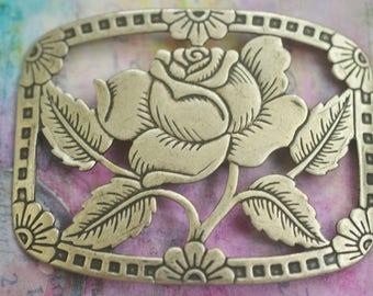 Rose Bracelet Brass Base, Brass Ox, Brass Stampings Made in the USA
