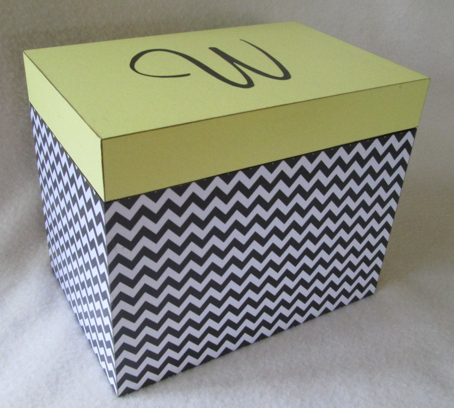 Large 5x7 Recipe Box Personalized Greeting Card Storage