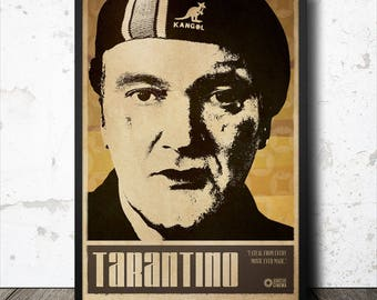 Quentin Tarantino Film Director Poster