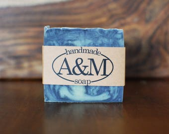 Cedarwood All Natural Homemade Soap with Activated Charcoal - Palm Oil Free, Vegan Soap - Cold Process Soap - Men's Soap, Father's Day