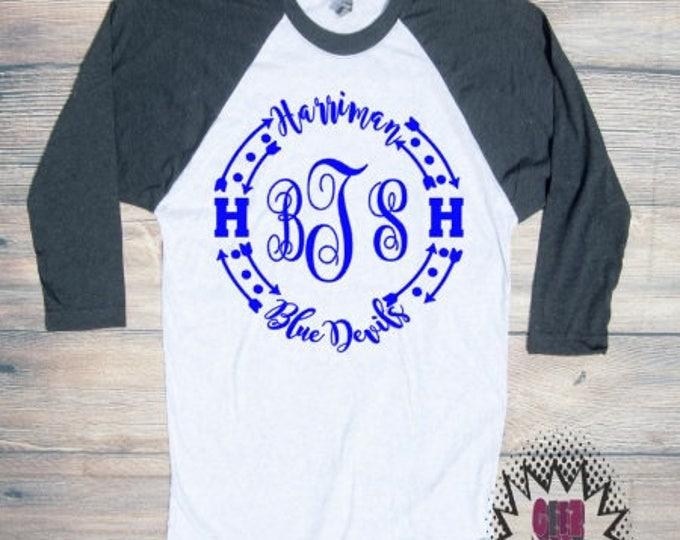 Harriman Tshirt Football  Youth Kid Child Unisex Cotton Team spirit t-shirt vinyl