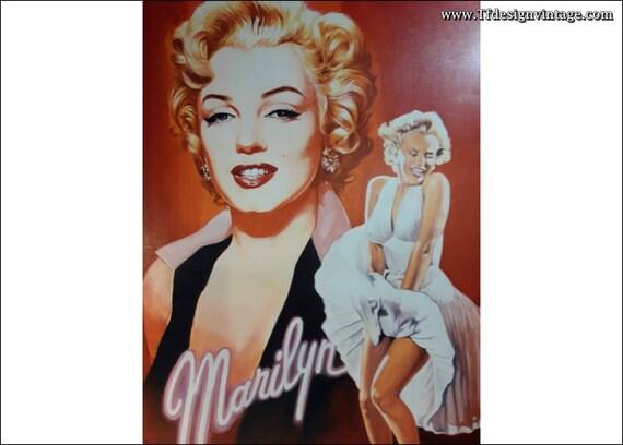 Marilyn Monroe cuadro, Marilyn Monroe lámina enmarcada, Marilyn Monroe cuadro de Renato Casaro, Marilyn Monroe en rojo, Marilyn Monroe arte