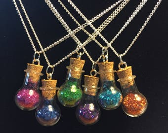 Fairy Dust in a Bottle Necklace