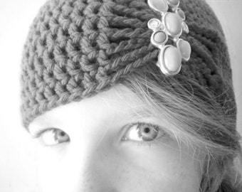 Flapper Style Cloche Hat - Design your own hat with colors and brooches - Winter Hats for Girls