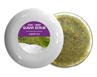 Exfoliating Sugar Scrub (4 oz) | Eco-friendly, Cruelty-free, Vegan, USDA Certified Organic Ingredients