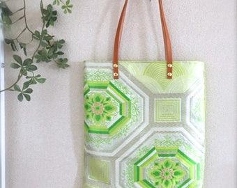 Obi / Obi Bag / Tote Bag / GR1015 Beautiful Kikko Pattern OBI Tote Bag