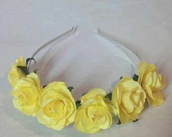 Yellow Flower Crown