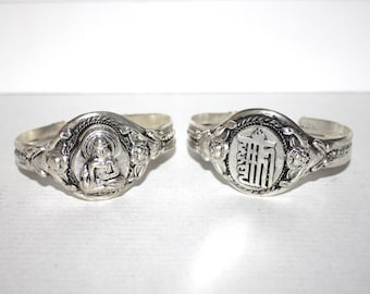 Buddha Bracelet, Kalachakra Bracelet, Boho bracelet, Silver Bracelet, Tribal Bracelet, Gypsy bracelet, Hippie Bracelet, Tibetan bracelet