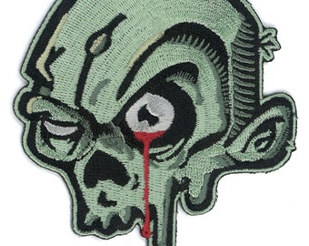 Zombie Head iron-on / Velcro Patch Applique Milspec USA Tactical DTOM Army Military SWAT Response Team Morale Badge Army Cosplay Punk Rock