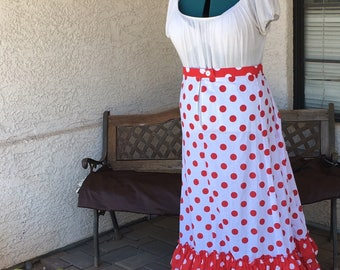 Red Hot Polka Dots - Victorian Petticoat