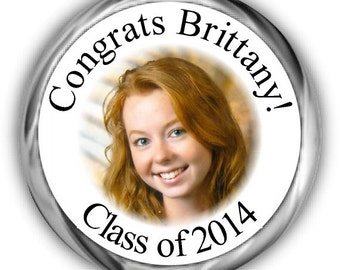 Photo Graduation Hershey Kisses Stickers - Personalized Graduation Sticker