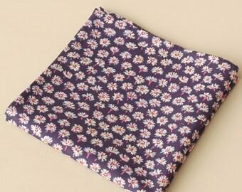 Liberty print pocket square - daisy print pocket square - Liberty Bellis purple pocket square