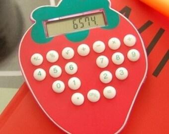 Super Cute Strawberry Basic Calculator