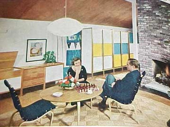 1961 MID CENTURY MODERN Decorating book Better Homes Gardens