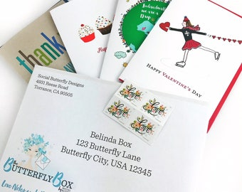 The Social Butterfly Monthly Stationery Subscription Service