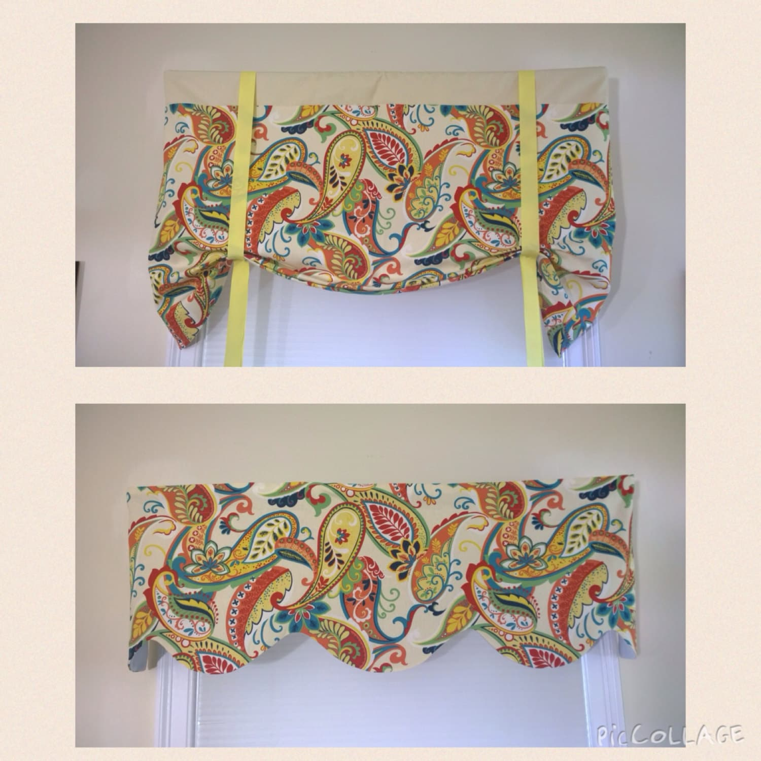 Covington Whimsy Paisley Mardi Gras Window valance