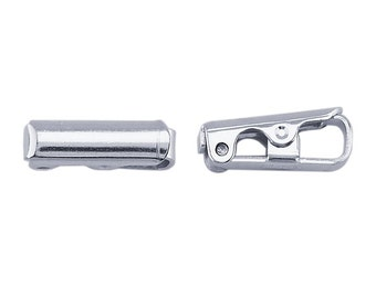 Sterling Silver Fold-Over Clasp, 2pcs.