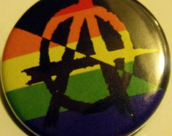 RAINBOW ANARCHY pinback buttons badges pack!