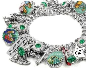Oz Charm Bracelet - Wizard of OZ Jewelry - Wizard of OZ Bracelet - Wicked Witch Jewelry - Land of OZ