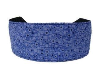 Bargain Headbands, Blue Brush strokes and Black Dots, Beautiful Headband