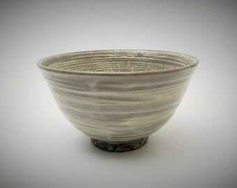Mishima Chawan.Kiyomizu-ware. Vintage Japanese Pottery.Tea ceremony.#cwn5.msjapan.