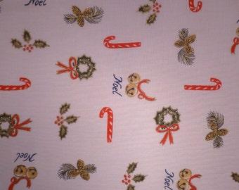Small Christmas Print - Destash Fabric - Cotton - Holiday