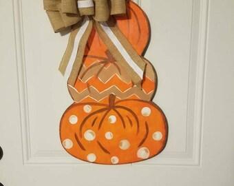 Halloween & Fall wood doorhanger