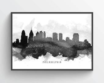 Philadelphia Skyline Poster, Philadelphia Cityscape, Philadelphia Decor, Philadelphia Art, Home Decor, Gift, USPAPH11P