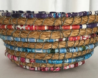 Paper Bead Basket