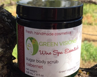 Wine Spa Essentials Sugar Body Scrubs