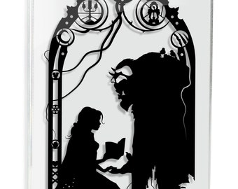 Beauty and the Beast Tale As Old As Time Papercut Princess Belle Love Art Anniversary Gift Wedding Gift For Her Hand Cut Paper FRAMED