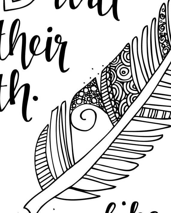 bible verse coloring page isaiah 4031 printable coloring page bible verse coloring pages christian kids activity adult coloring - Isaiah Coloring Pages For Kids